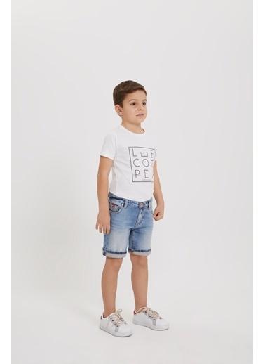Lee Cooper Erkek Çocuk Jean Şort Mavi